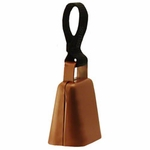 shop Copper Finish Collar Bell with Nylon Loop -- Large