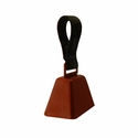 Copper Finish Collar Bell with Nylon Loop -- Medium