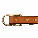 buy discount  Deluxe Leather D-end Dog Collar Buckle Inside Detail
