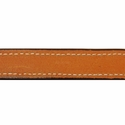 buy discount  Deluxe Leather D-end Dog Collar Inside Stitching Detail