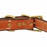 shop Deluxe Leather Dog Collar Back of Buckle Detail