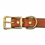 shop Deluxe Leather Dog Collar Buckle Inside Detail