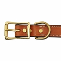 buy discount  Deluxe Leather Dog Collar Buckle Inside Detail