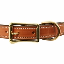 buy discount  Deluxe Leather Dog Collar Front of Buckle Detail