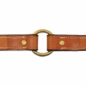buy discount  Deluxe Leather Dog Collar Inside Center Ring Detail