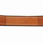 shop Deluxe Leather Dog Collar Inside Stitching Detail