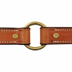 shop Deluxe Leather Dog Collar Outside Center Ring Detail