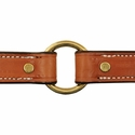 buy discount  Deluxe Leather Dog Collar Outside Center Ring Detail
