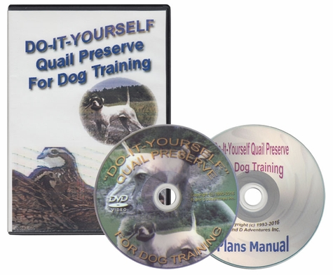 Do-It-Yourself Quail Preserve for Dog Training DVD