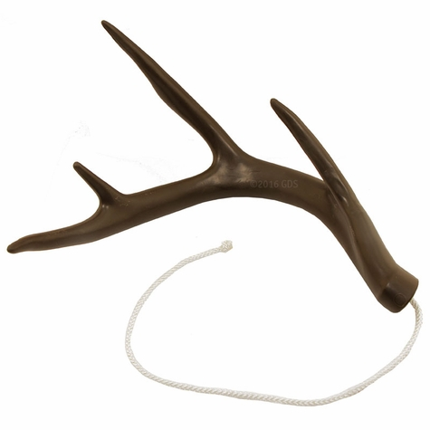 Dog Bone Brown Rubber Soft Shed Retrieving Antler Dummy