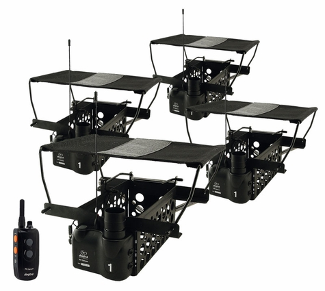 Dogtra Remote System w/ 4 Quail Launchers QLD-4