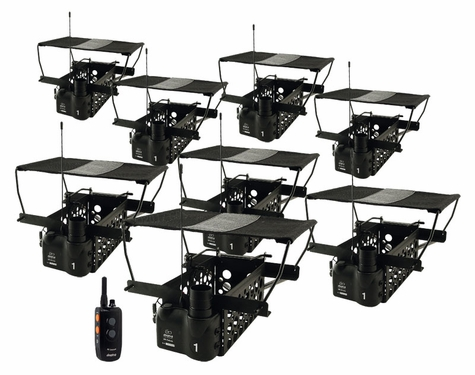 Dogtra Remote System w/ 8 Quail Launchers QLD-8