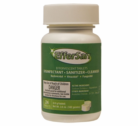 EfferSan Concentrated Disinfectant / Sanitizer / Cleaner -- 24-count