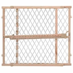 shop Evenflo Position & Lock Gate Wood / White Mesh - G202
