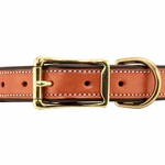 shop Leather Collar Front of Buckle Detail