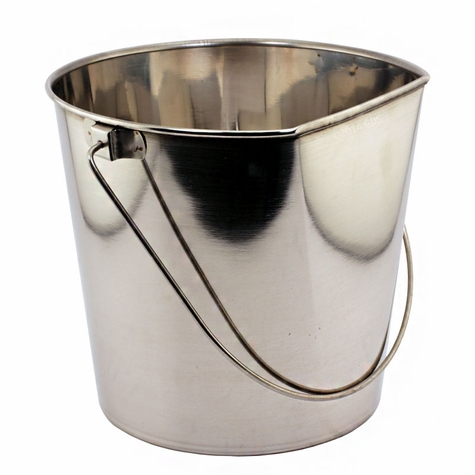 Flat Sided Water Bucket - 4 Quart