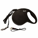 buy discount  Medium Black Flexi NEW CLASSIC Retractable Cord Leash -- 26 ft.