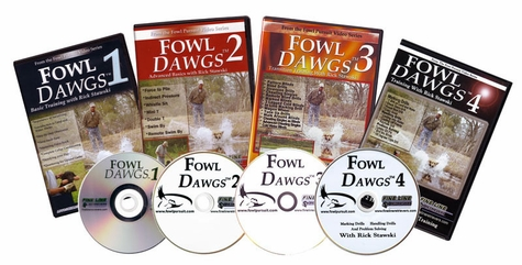 Fowl Dawgs vol. 1, 2, 3, & 4  DVD Set with Rick Stawski