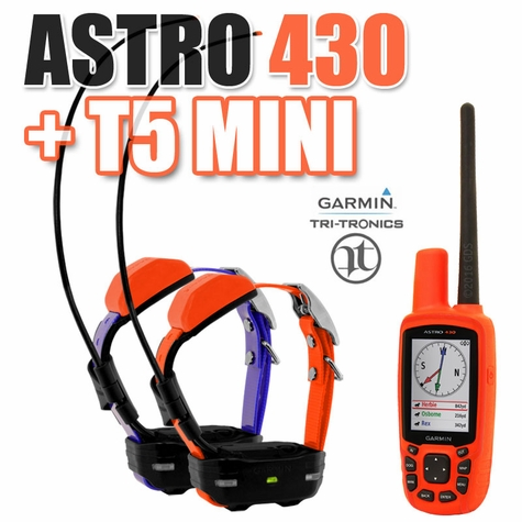 Garmin Astro 430 + T5 MINI COMBO 2-dog (GPS Tracking)