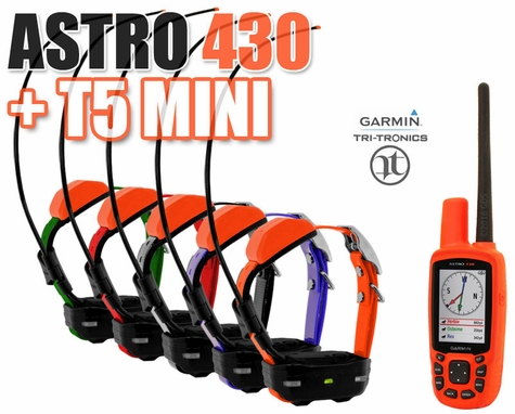 Garmin Astro 430 + T5 MINI COMBO 5-dog (GPS Tracking)