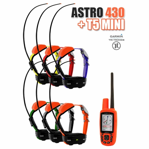 Garmin Astro 430 + T5 MINI COMBO 6-dog (GPS Tracking)