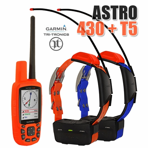 Garmin Astro 430 with T5 COMBO (2-dog GPS System)