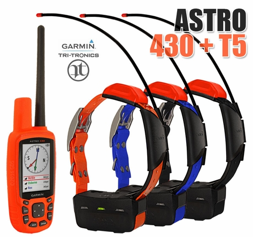 Garmin Astro 430 with T5 COMBO (3-dog GPS System)