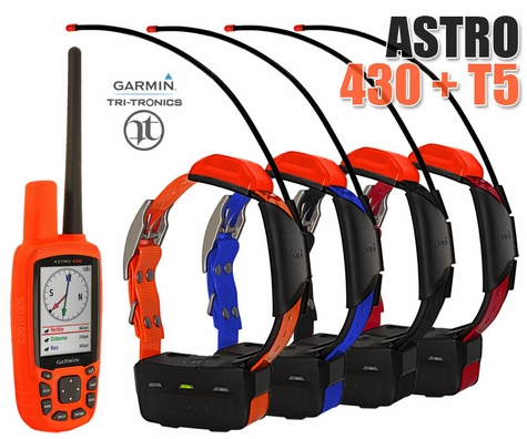 Garmin Astro 430 with T5 COMBO (4-dog GPS System)
