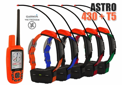 Garmin Astro 430 with T5 COMBO (5-dog GPS System)