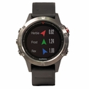 Garmin Fenix 5 GPS Watch -- Gray with Black Band