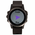 Garmin Fenix 5S Sapphire GPS Watch -- Black with Black Band