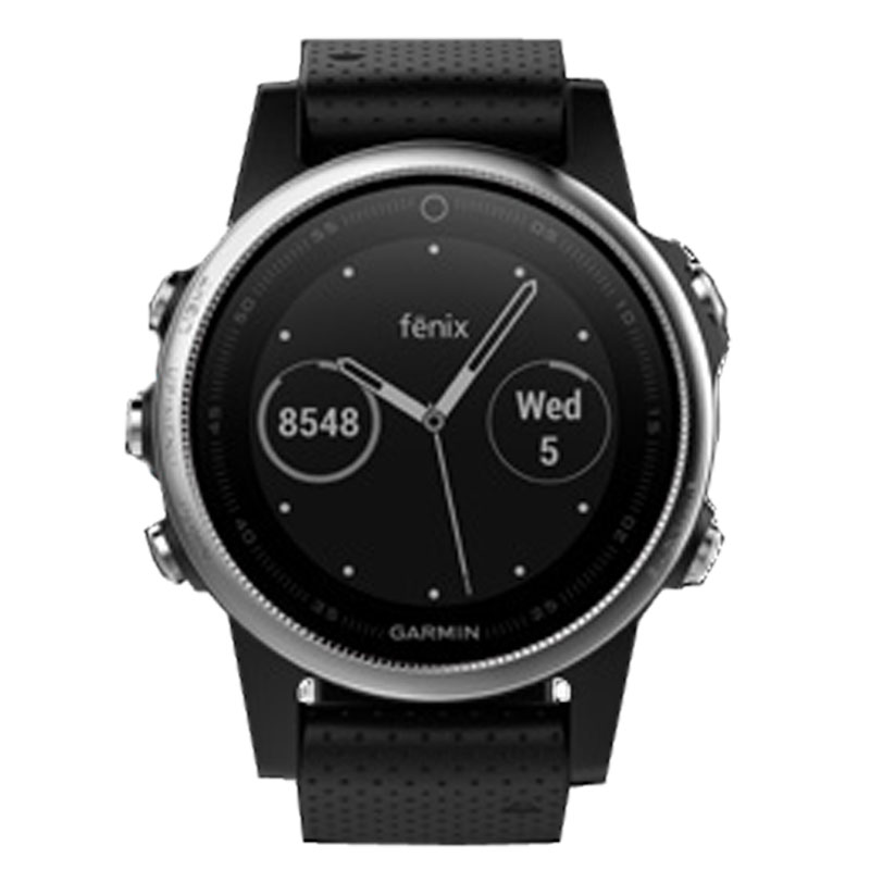 Garmin fenix 5s gps watch silver with black band 599 for Fenix materiale