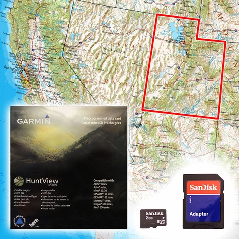 Garmin Hunt View Maps - Utah