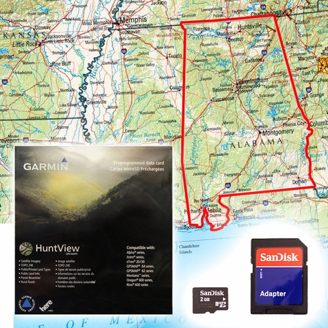 Garmin HuntView Map Card - Alabama