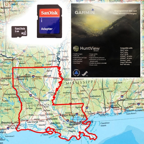 Garmin HuntView Map Card - Louisiana