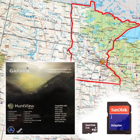 Garmin HuntView Map Card - Minnesota