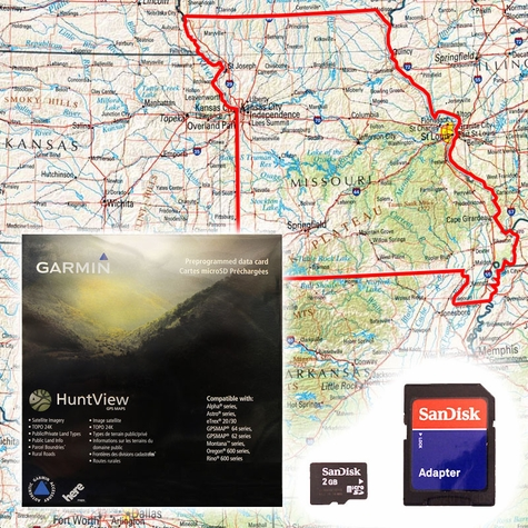 Garmin HuntView Map Card - Missouri