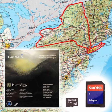Garmin HuntView Map Card - New York