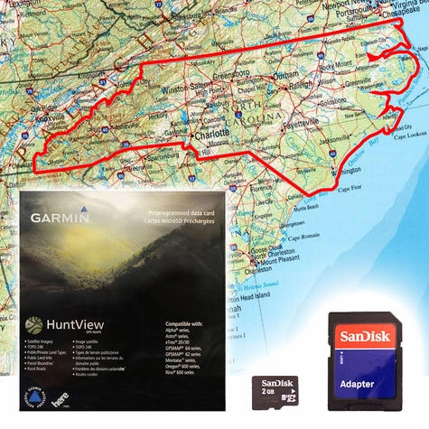 Garmin HuntView Map Card - North Carolina