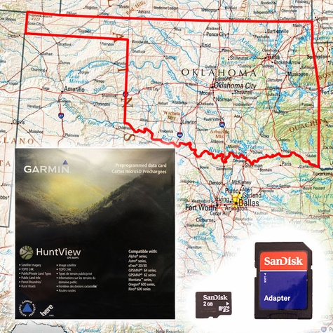 Garmin HuntView Map Card - Oklahoma