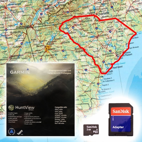 Garmin HuntView Map Card - South Carolina
