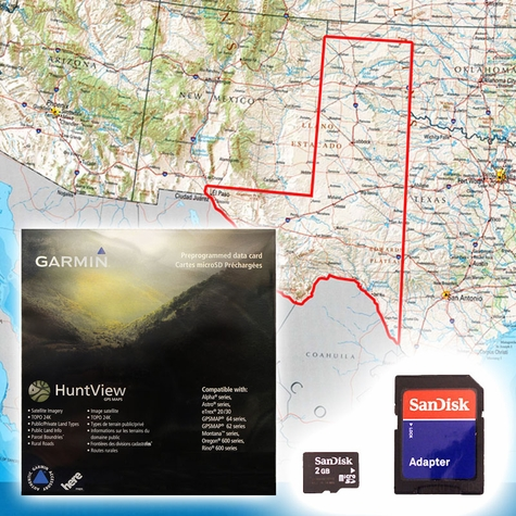 Garmin HuntView Map Card - West Texas