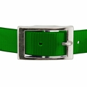 buy discount  GREEN 1 in. Day Glow Center Ring Collar Buckle Front