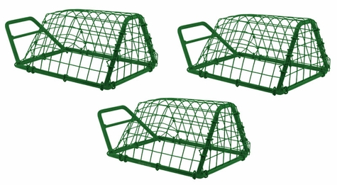 GREEN Economy Tip Up Bird Releaser by SW Cage -- Set of 3