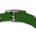 buy discount  Green Nylon Dog Collar Back of Buckle Detail