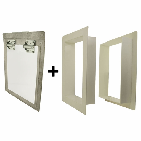 Gun Dog House Doors Big Dog Door w/ PVC Wall Trim Kit