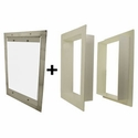 buy discount  Gun Dog House Doors Easy Big Dog Door w/ PVC Wall Trim Kit