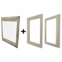 buy discount  Gun Dog House Doors Easy Pet Door w/ PVC Door Trim Kit
