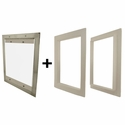 Gun Dog House Doors Easy Pet Door w/ PVC Door Trim Kit