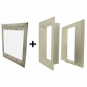 buy discount  Gun Dog House Doors Easy Pet Door w/ PVC Wall Trim Kit